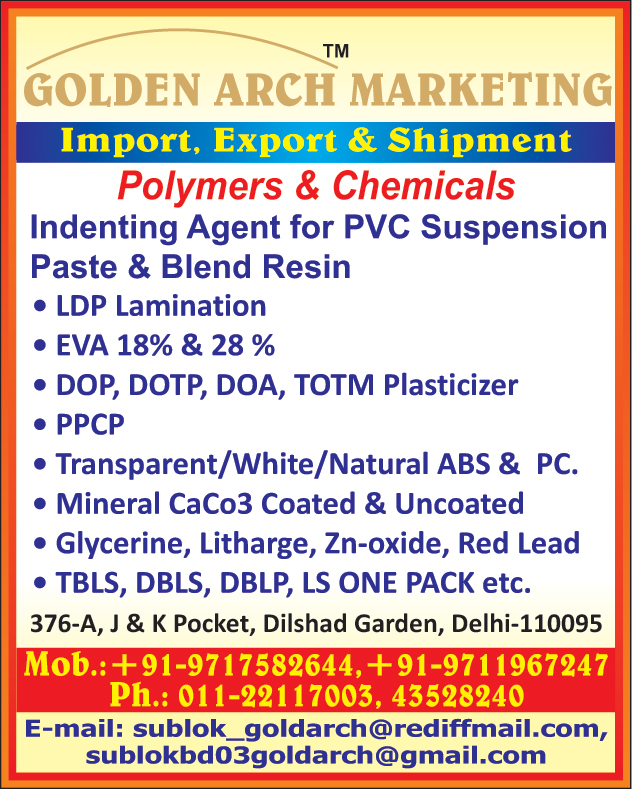 Polymers, Chemicals, Indenting Agent for PVC Suspension Paste, Indenting Agent for PVC Blend Resin, LDP Lamination, DOP Plasticizers, DOTP Plasticizer, DOA Plasticizers, TOTM Plasticizers, PPCP Granules, Transparent ABS, White ABS, Natural ABS, Transaparent PC, Natural PC, Mineral CaCo3 Coated, Mineral CoCo3 Uncoated, Glycerine, Litharge, Zn oxide, Red Lead, TBLS, DBLS, DBLP, LS One Pack               ,Platic Dana, Polymers, Plastic Materials, LDP Lamination, Industrial Chemicals, Indenting Agent for Polymers, Indenting Agent for Chemicals, White PC