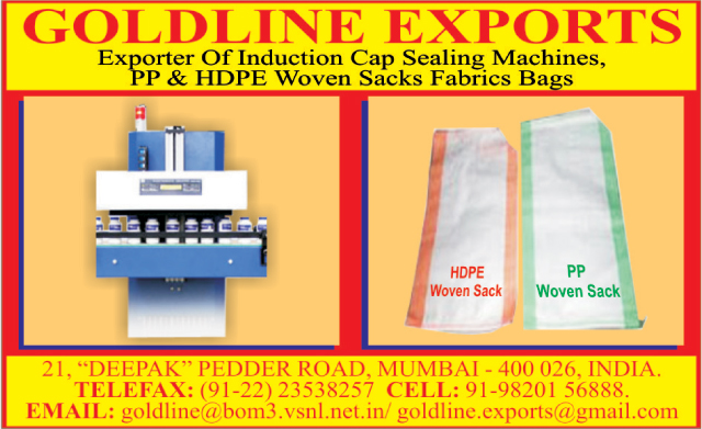 Induction Cap Sealing Machines, PP Woven Sack Fabric Bags, HDPE Woven Sack Fabric Bags