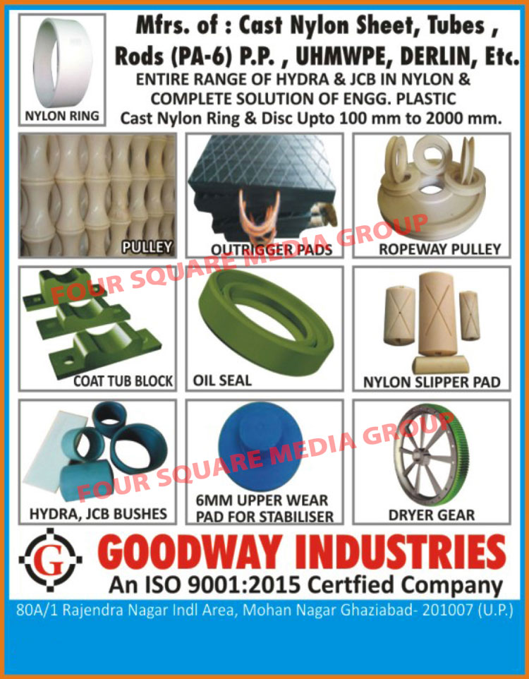 Cast Nylon Sheets, Cast Nylon Rods, Cast Nylon Tubes, UHMWPE Sheets, UHMWPE Components, Hydra JCB Spare Parts, Cast Nylon Boom Pads, Sprocket Gears for Hydra Crane, Cast Nylon Rings, Cast Nylon Disc, Cast Iron Pulleys, Cast Nylon Outrigger Pads, UHMWPE Outrigger Pads, JCB Bushes, Rope Pulleys, Coal Tub Blocks, Hydraulic Oil Seals, Pneumatic Oil Seals, Rotary Oil Seals, Nylon Slipper Pads, Stabilizer Upper Wear Pads, Dryer Gears, Nylon Oil Seals, Top Plugs, Bottom Plugs, Derlin Sheet, Hydra JCB Wear Pad, Cast Nylon Pulley, PP Rod, PA6 Rod