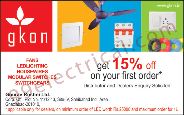 Fans, Led Lights, House Wires, Modular Switches, Switchgear,Conventional Lighting, Wires, Cables, Conventional Accessories, LED, Lights, Switches, Street Lights, Electronic Ballast, Domestic Fittings, Downlights, Electrical Items