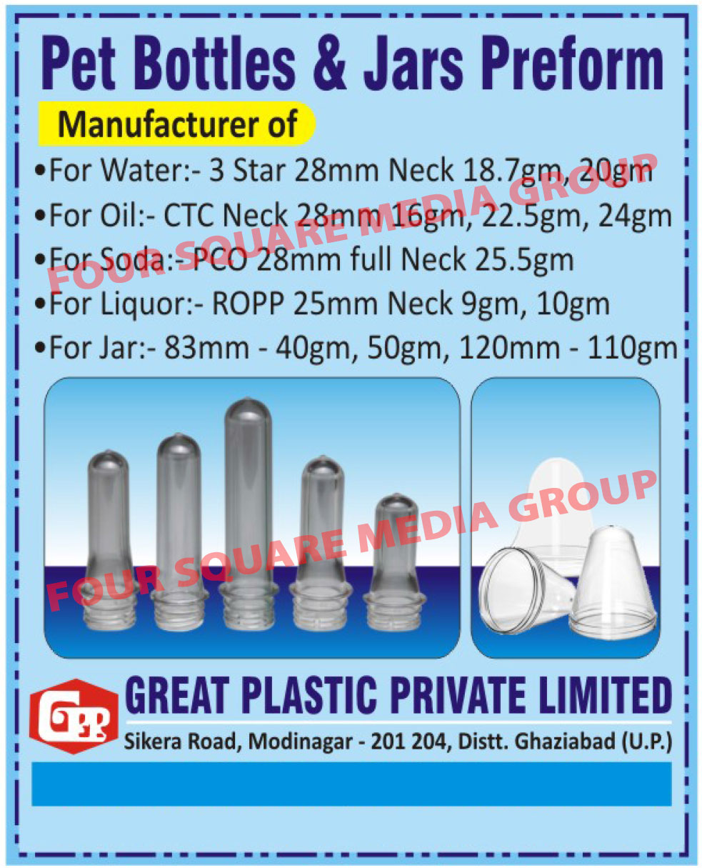 Pet Preforms, Pet Bottles