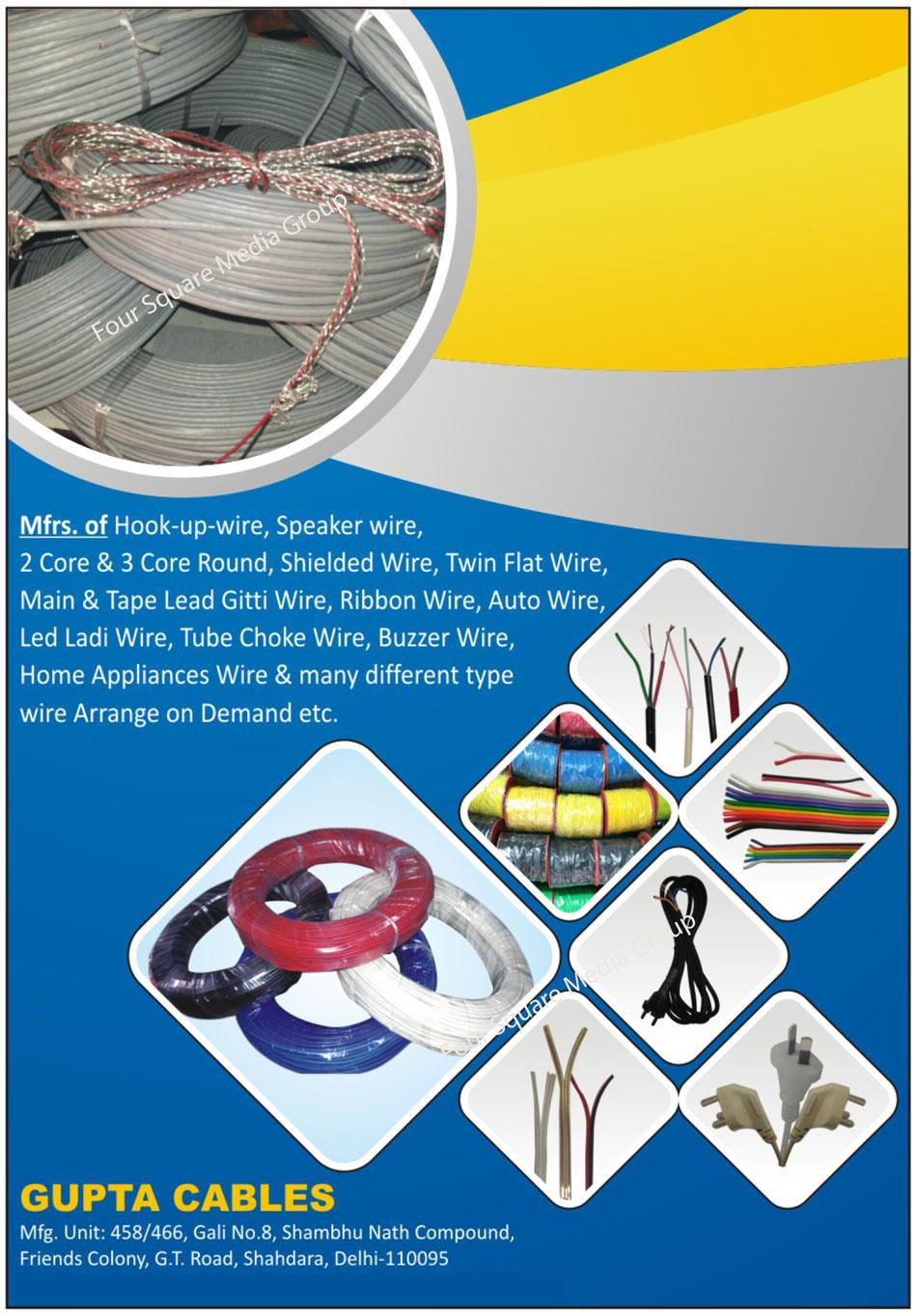 Hook Up Wire | Speaker Wire | 2 Core Round Wire | Wire - Gupta ...