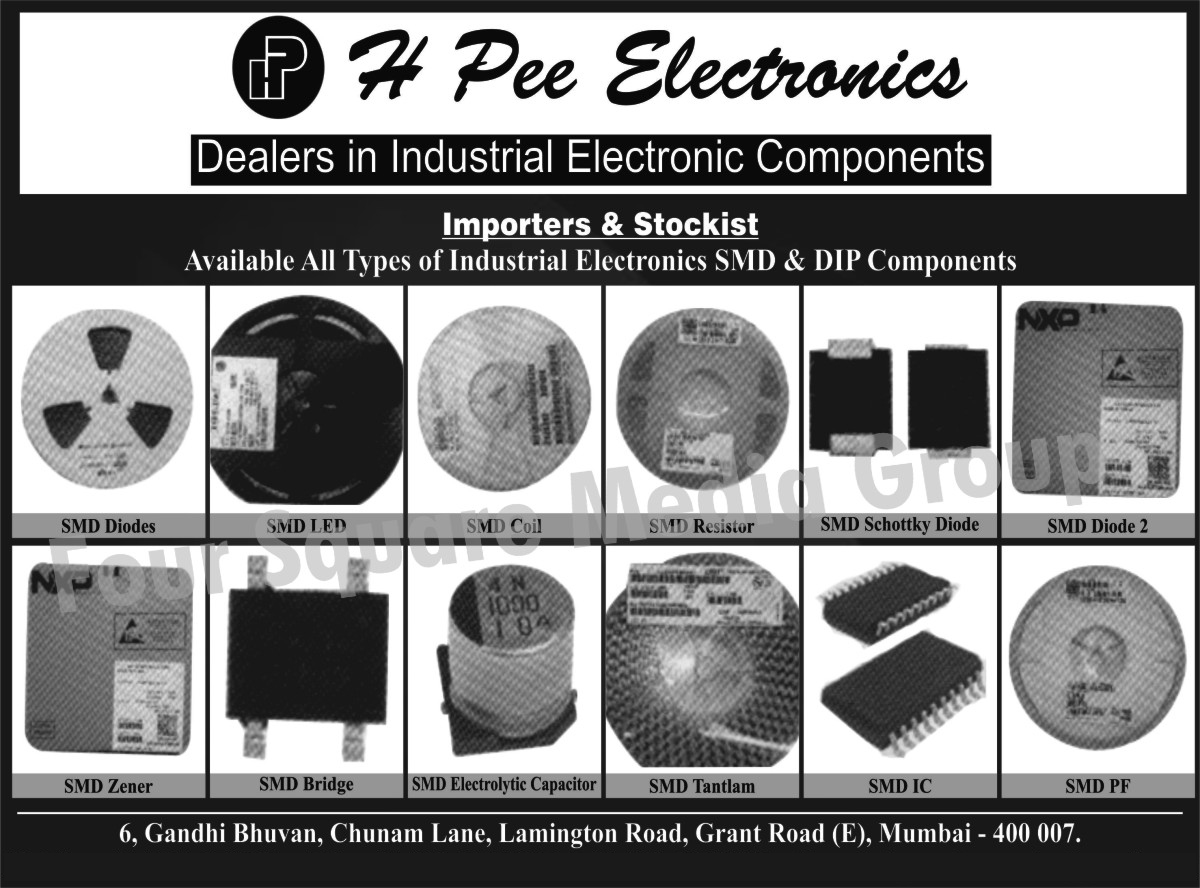 Industrial Electronic Components, Industrial Electronic SMD Components, Industrial Electronic DIP Components, SMD Diodes, SMD LEDs, SMD Coils, SMD Resistors, SMD Schottky Diodes, SMD Zener, SMD Bridges, SMD Electrolytic Capacitors, SMD Integrated Circuits, SMD PF,