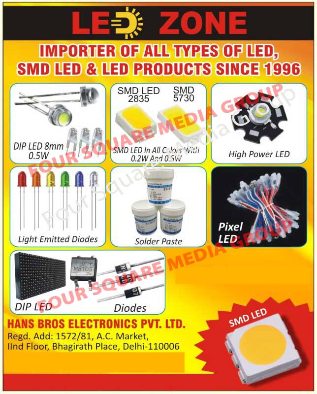 Leds, SMD Leds, Led Products, Dip Leds, High Power Leds, Light Emitted Diodes, Solder Pastes, Pixel Leds, Diodes