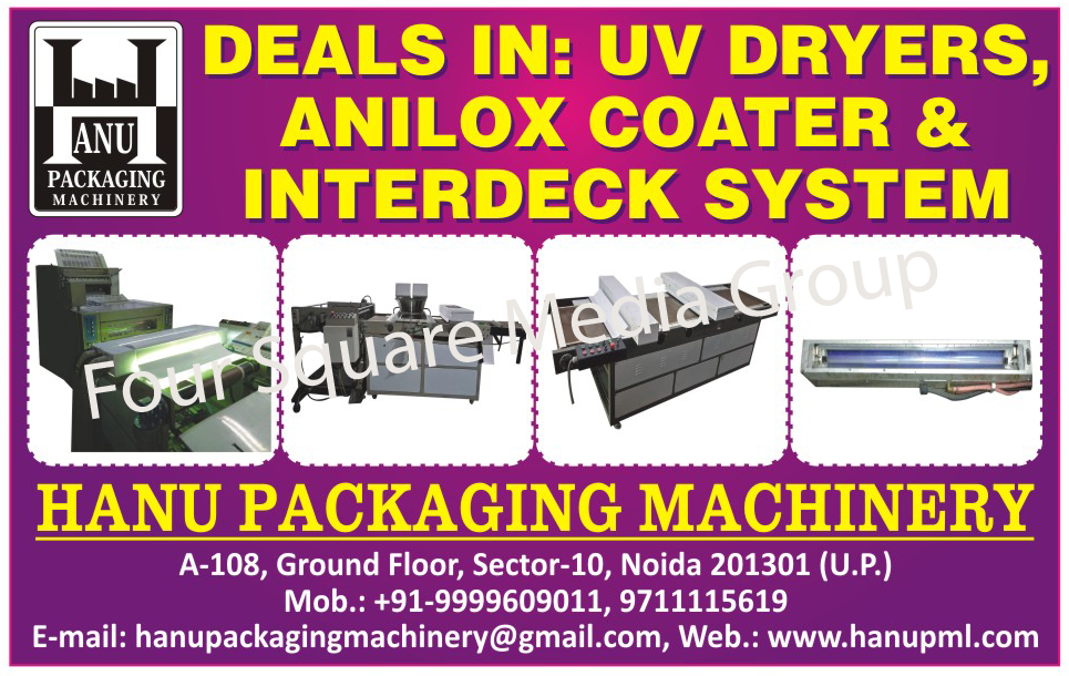 UV Dryers, Anilox Coaters, Interdeck Systems