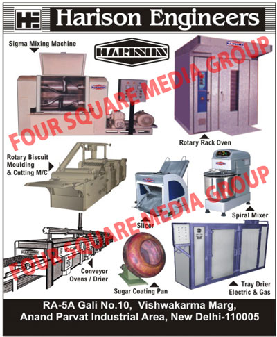Food Mixing Machines, Rotary Rack Ovens, Rotary Biscuit Moulding Machines, Rotary Biscuit Cutting Machines, Slicers, Spiral Mixers, Conveyor Ovens, Conveyor Driers, Sugar Coating Pan, Electric Tray Driers, Electric Tray Dryers, Gas Tray Driers, Sigma Mixing Machines, Biscuit Moulding, Biscuit Cutting Machine, Mixer, Tray Drier, Biscuit Moulding Machine, Tray Drier Electric, Tray Drier Gas, Bread Slicers
