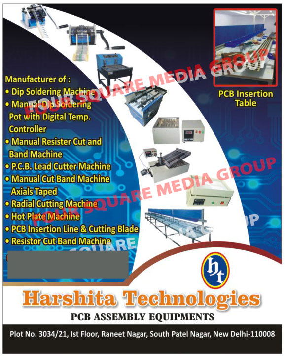 Printed Circuit Board Assembly Equipments, Manual Cut Bend Machines, Lead Cutting Machines, Axial Tapped, Dip Soldering Machines, Manual Dip Soldering Pot with Digital Temperature Controllers, Manual Resistor Cut Machines, Manual Bend Machines, Printed Circuit Board Lead Cutter Machines,Cutting Machine, Bending Machine, PCB Mounting Line, Printed Circuit Board Mounting Lines, PCB Assembly Equipments, PCB Lead Cutter Machine, Printed Circuit Board Lead Cutters, Cutting Blade, Printed Circuit Board Insertion Lines, Printed Circuit Board Cutting Blades, Radial Cutting Machines, Hot Plate Machines, Resistor Cut Band Machines, Axial Taped Manual Cut Band Machines