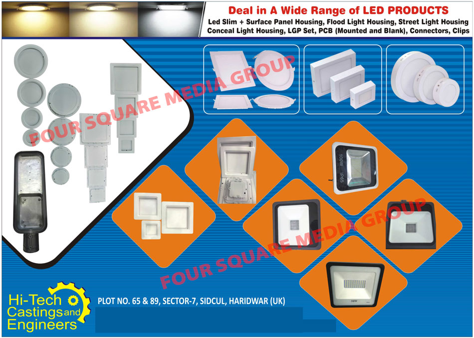 Edge Lit Slim Panel Housing, Edge Lit Surface Panel Housing, LGP Set, Blank PCB, Blank Printed Circuit Board, Clips, Slim Panel Housing, Surface Panel Housing