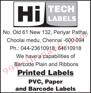 PVC Labels, Paper Labels, Barcode Labels, Printed Labels,Labels, Ribbons