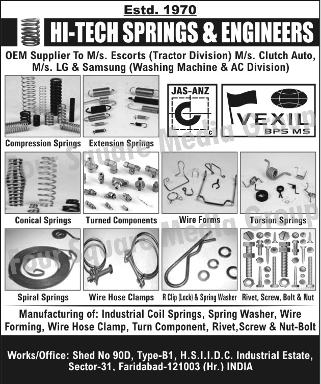 Compression Springs | Extension Springs | Conical Springs | Turned ...