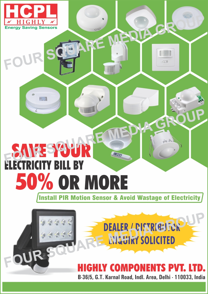 Energy Saving Sensors, PIR Motion Sensors