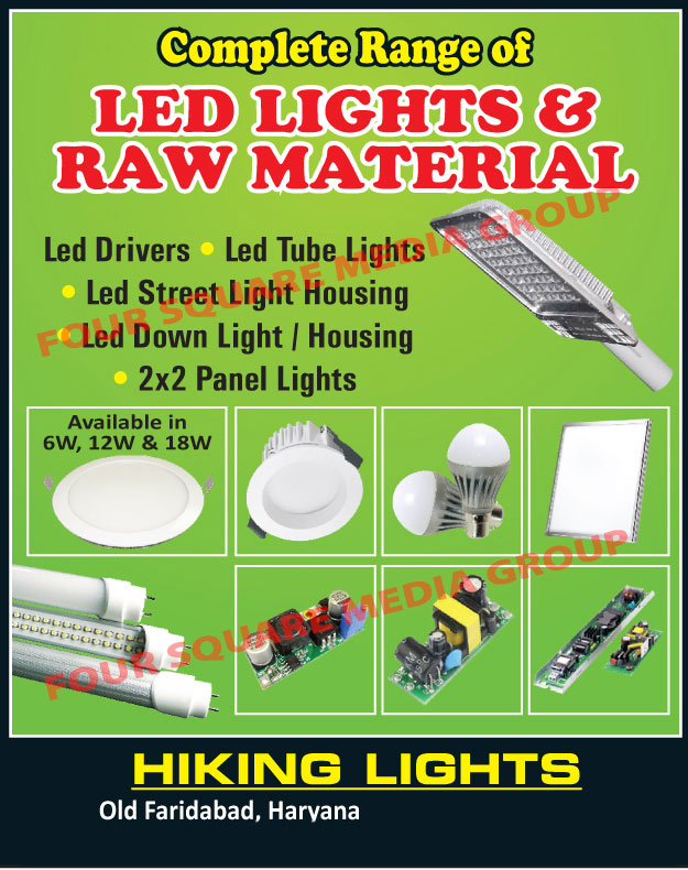 Led Light Raw Materials, Led Lights, Led Tube Lights, Led Street Light Housings, Led Down Lights, Led Down Light Housings, Led Panel Lights