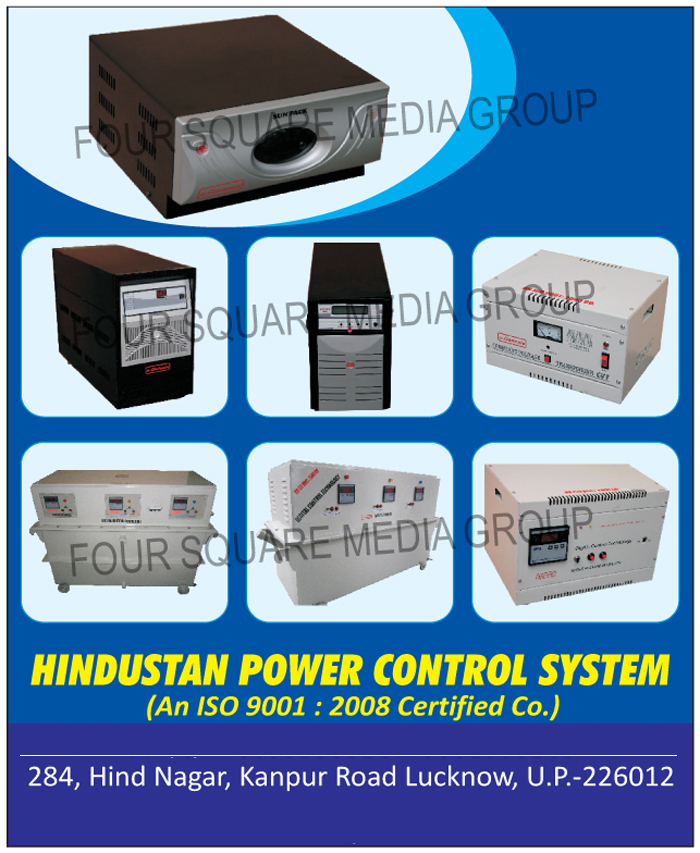 Servo Voltage Stabilizers, Transformers, Online UPS Systems, Solar Hybrid Inverters, Battery Chargers, Display Servo Voltage Stabilizers, Industrial Stabilizers, Isolation Transformers, CVT, Contant Voltage Transformers, E Rickshaw Battery Chargers, APFC Panels