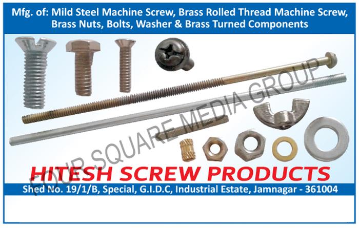 Mild Steel Machine Screws, Brass Rolled Thread Machine Screws, Brass Nuts, Bolts, Washers, Brass Turned Components