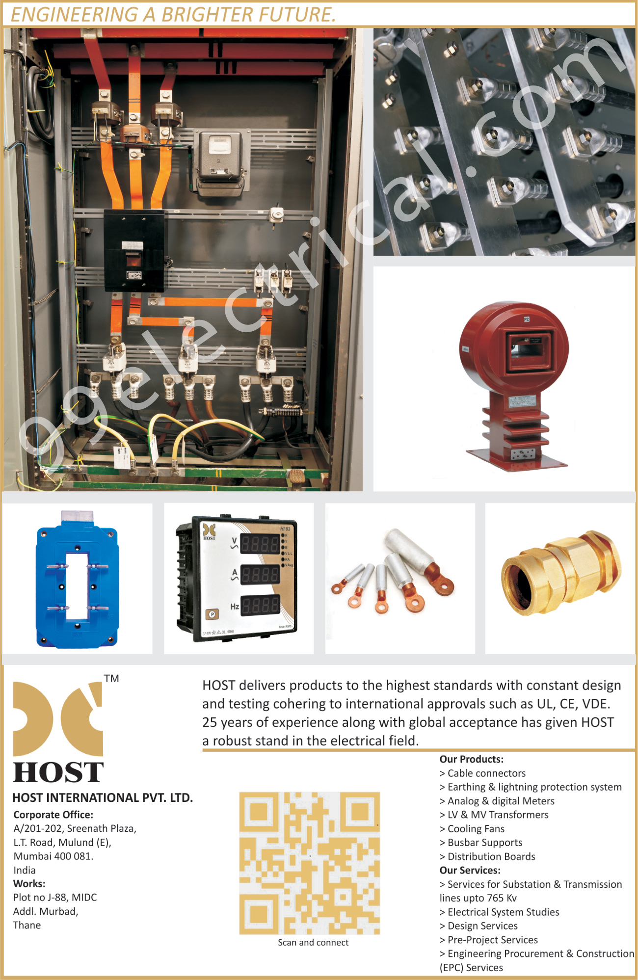 Cable Connectors, Earthing Protection Systems, Light Protection Systems, Analog Meters, Digital Meters, LV Transformers, MV Transformers, Cooling Fans, Busbar Supports, Distribution Boards,Electrical Products, Electrical Parts, Analog Motors, Digital Motors, Earthing Lighting Protection System, Transformers, Connectors