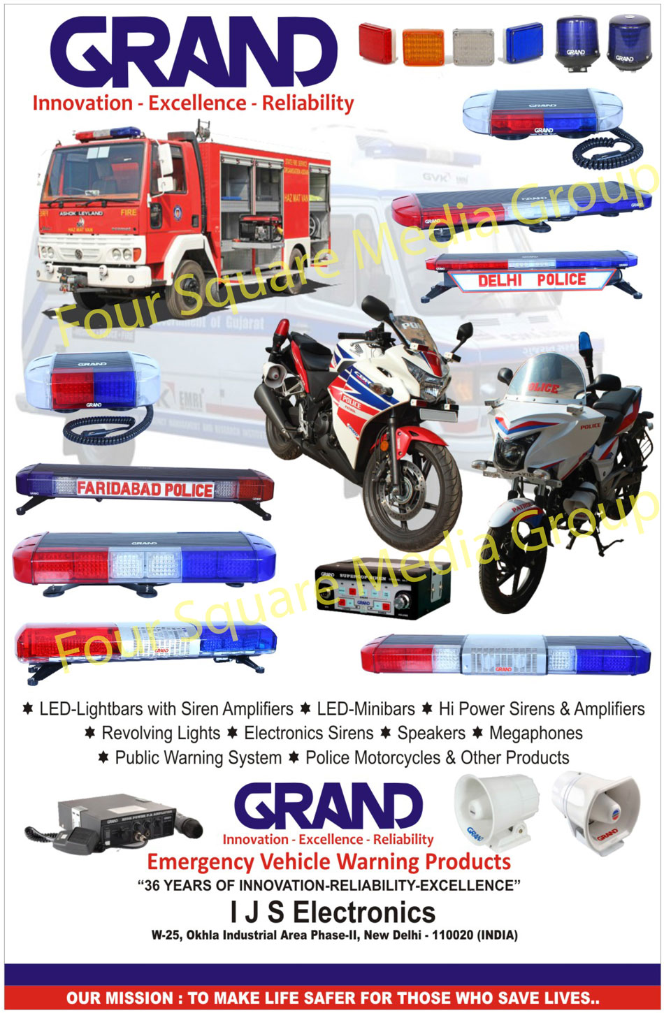 Led light bars with siren amplifiers led mini bars hi power revolving lights electronic sirens speakers megaphones public warning systems police motorcycles emergency vehicle warning productsled lightbars aloadofball Image collections