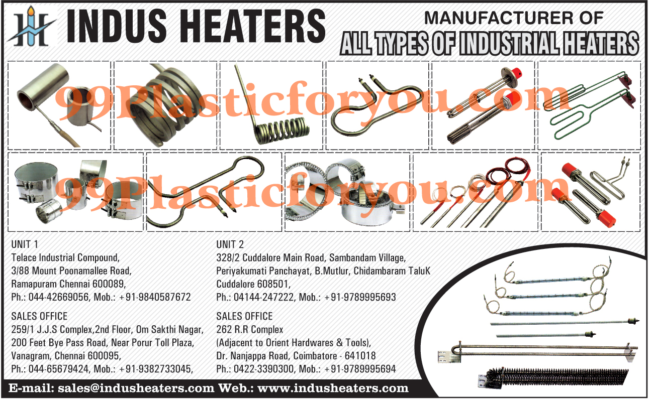 Industrial Heaters,Heaters, Cartridge Heaters, Casting Heaters, Electric Heaters, Glass Heaters, Corrugation Heater, Thermocouple, Frared Heater, Immersion Heater, Air Heaters, Electrical Heating Elements, Kettle Element, Temperature Controller, Heating Manifold, Heating Accessories, Coil Heaters, Tubular Heaters, Silicone Rubber Heater, Electrical Hot Plates, Water Immersion Heater