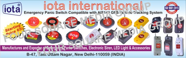Electronic Sirens, Piezo Siren, Horn Speaker, Spoken Alarm, Strobe Lights, Beacon Lights, SMPS, LED Drivers, Led Lights, Led Bulbs, Led Components, Led Accessories,Metal Body Sirens, Audio Visual Products, PA System, Wireless Security Alarm, Power Supplies, Electronic Diva Lights