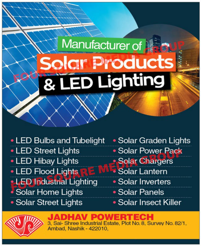Led Lights, Solar Products, Led Bulbs, Led Tube Lights, Led Street Lights, Led High Bay Lights, Led Flood Lights, Led Industrial Lights, Solar Home Lights, Solar Street Lights, Solar Garden Lights, Solar Power Packs, Solar Chargers, Solar Lanterns, Solar Inverters, Solar Panels, Solar Insect Killers