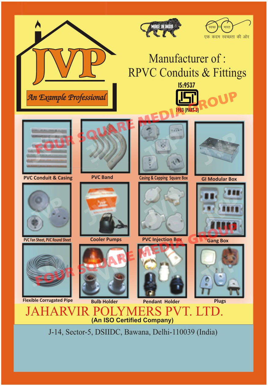 PVC Conduit Pipes, PVC Bends, PVC Conduit Sockets, UPVC Plumbing Pipes, PVC Casing, Capping Pipes, Submersible Pumps, Rigid PVC Conduit Pipes, Cooler Pumps, Modular Boxes, Plastic Pipes, PVC Casing Pipes, PVC Capping Pipes, Elbow PVC Bands, PVC Flexible Pipes, PVC Gitti, Wires, RPVC Conduits, RPVC Fittings