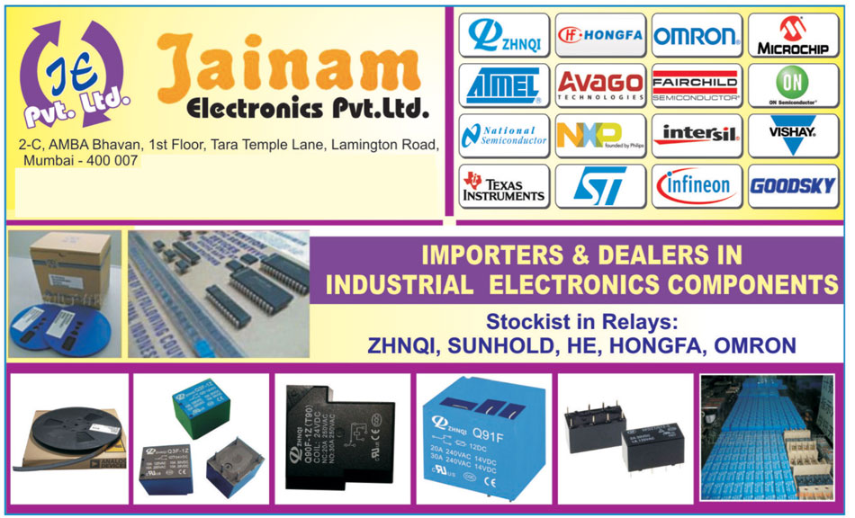 Industrial Electronics Components, Electrical Relays, PCB Relays, Printed Circuit Board Relays, Relay Socket, Linears, DIP Switches, Capacitors, Diodes, Sockets, Electrical Connectors, Transistors, Trimpots, Helipots,Power Management IC, Power Management Integrated Circuits, Integrated Circuits, Relays, Led, Metal Oxide Varistor, SMD Chip Led, Tantalum Capacitors, Mosfets, IGBT, Insulated Gate Bipolar Transistor, Chip Capacitors, Resistors, Through Hole LED, MOV