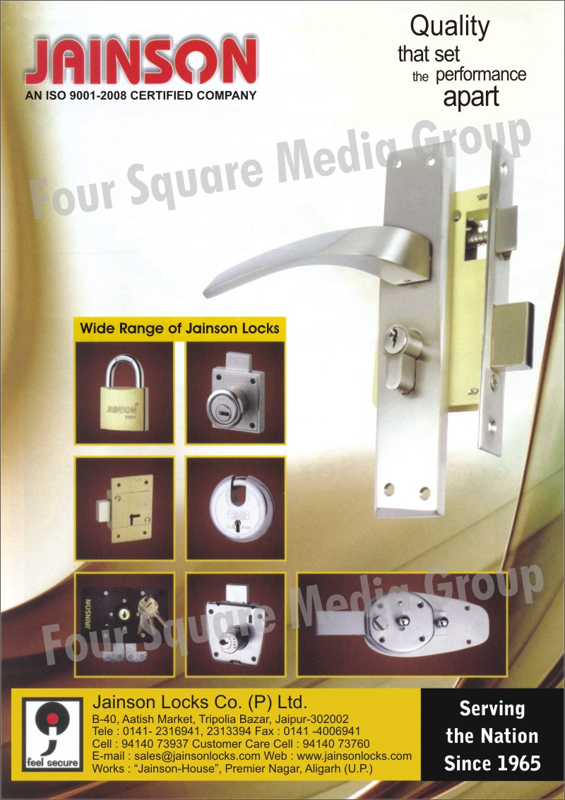 Pad Locks, Locks, Drawer Locks, Handle Locks, Baby Latches, Mortise Handles, Internal Door Locks, Door Locks, Rolling Shutter Locks, Cupboard Locks, Furniture Locks,