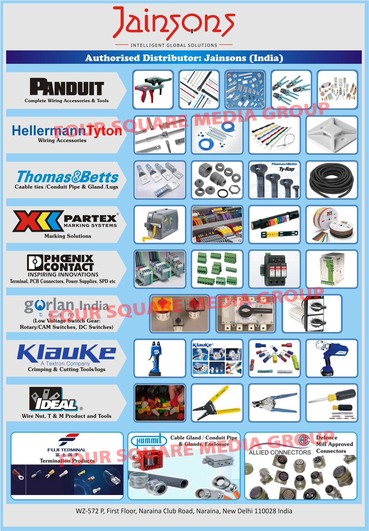 Wiring Accessories Tools Cable Ties Jainsons India Conduit Pipes Glands