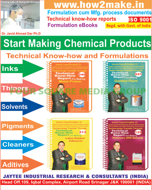 Formulation Process Documents, Manufacturing Process Documents, Formulation E Books, Product Making Technology, Technical Reports,Consultancy Services, Car Polishes, Car Care Products, Car Accessories
