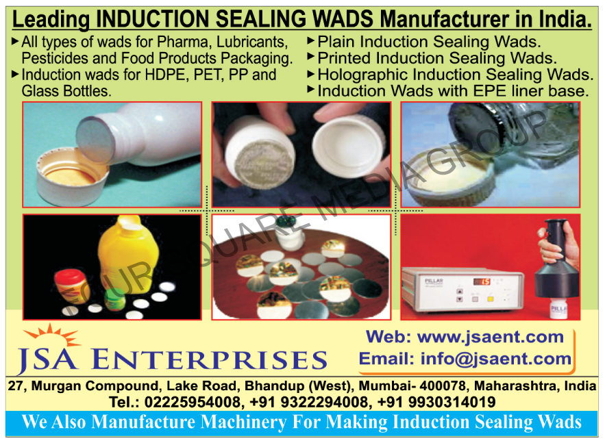 Plain Induction Sealing Wads, Pharma Wads, Lubricant Wads, Pesticide Wads, Food Product Packaging Wads, HDPE Induction Wads, Pet Induction Wads, PP Induction Wads, Glass Bottle Induction Wads, Printed Induction Sealing Wads, Induction Wads With EPE Liner Base,Wads, Induction Wads, Induction Sealing Wads, Induction Wads, Cork Products, Plastic Caps, Lug Caps