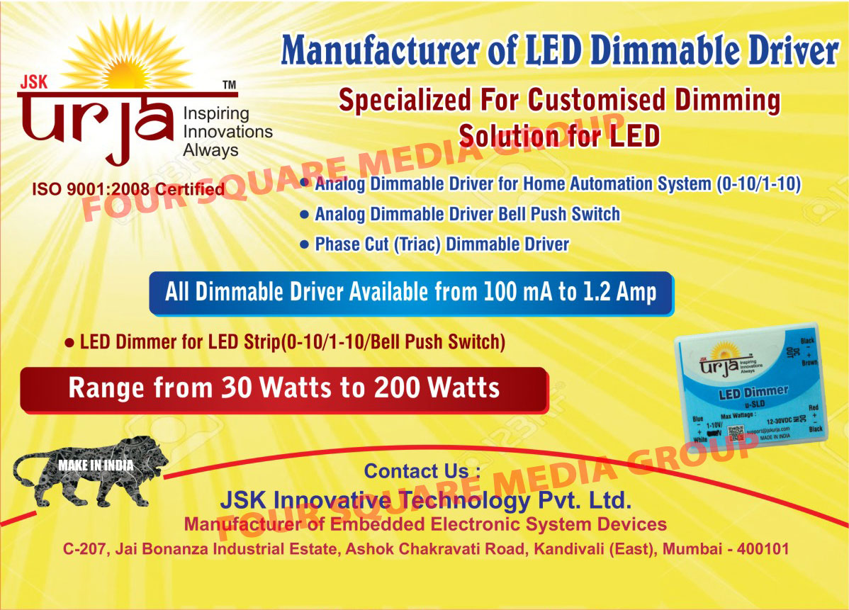 Led Dimmable Drivers, Dimmable Led Drivers, Analog Dimmable Driver for Home Automation Systems, Analog Dimmable Driver Bell Push Switches, Phase Cut Dimmable Drivers, Led Dimmers for Led Strips, Customised Led Dimming Solutions, Customized Led Dimming Solutions, Embedded Electronics System Devices, Face Cut Triac Dimmable Drivers, Led Lights