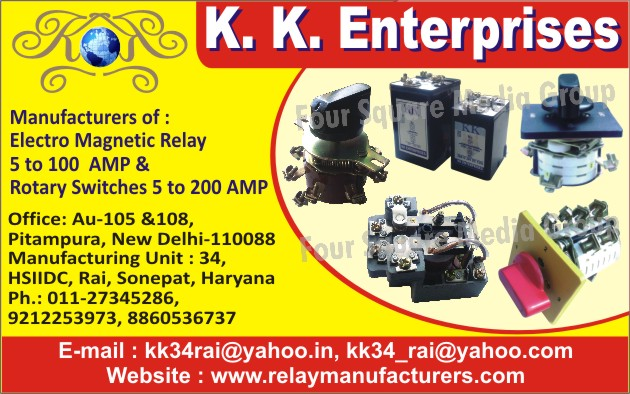 Electro Magnetic Relays, Rotary Switches,