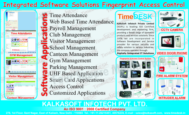 Fingerprint Access Control Systems, CCTV Cameras, Video Door Phones, Fire Alarm Systems, Intruder Alarms, Biometric Products, Time Attendance Software, Payrol Management Software, Club Management Software, Visitor Management Software, School Management Software, Canteen Management Software, Gym Management Software, UHF Baased Application Software, Smart Card Application Software, Access Control Software, Customized Software, Fire Safety Products