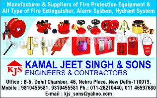 Fire Protection Equipments, Fire Extinguishers, Alarm Systems, Hydrant Systems, Fire Safety Products