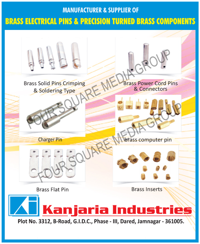 Brass Electrical Pins, Precision Turned Brass Components, Charger Pins, Brass Flat Pins, Crimping Type Brass Solid Pins, Soldering Type Brass Solid Pins, Brass Power Cord Pins, Brass Power Cord Connectors, Brass Computer Pins, Brass Inserts