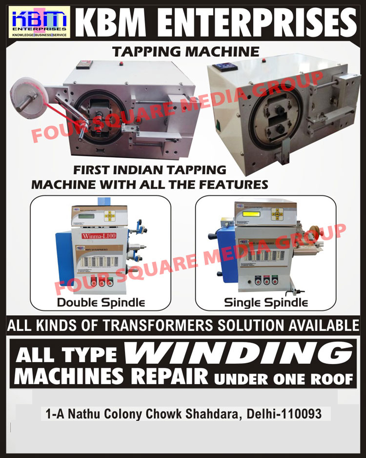Tapping Machines, Double Spindle Tapping Machines, Single Spindle Tapping Machines, Transformer Solutions, Winding Machine Repairing Services