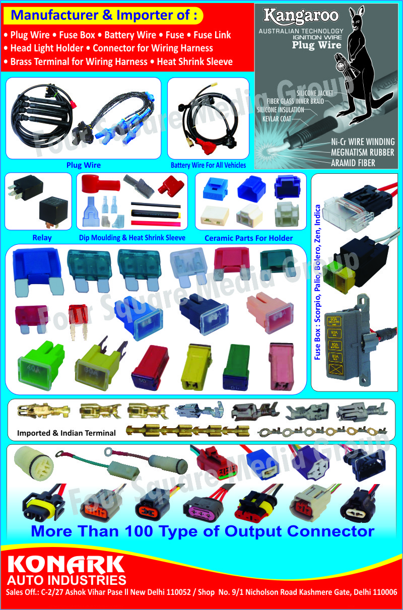 Automotive Plug Wires Fuse Boxes Fuses Auto Box Wiring Links Head