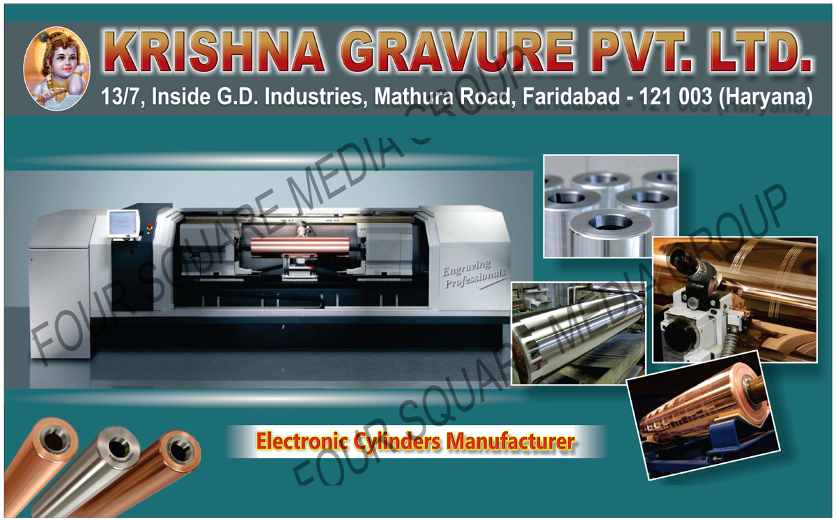 Electronic Cylinders, Rotogravure Printing Machine Electronic Cylinders, Electronic Engrave Cylinders, Flexible Packaging Materials