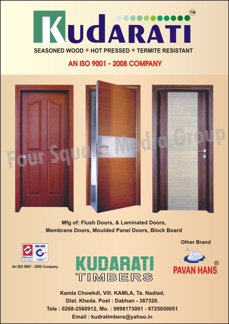 Flush Doors, Laminated Doors, Membrane Doors, Moulded Panel Doors, Block board