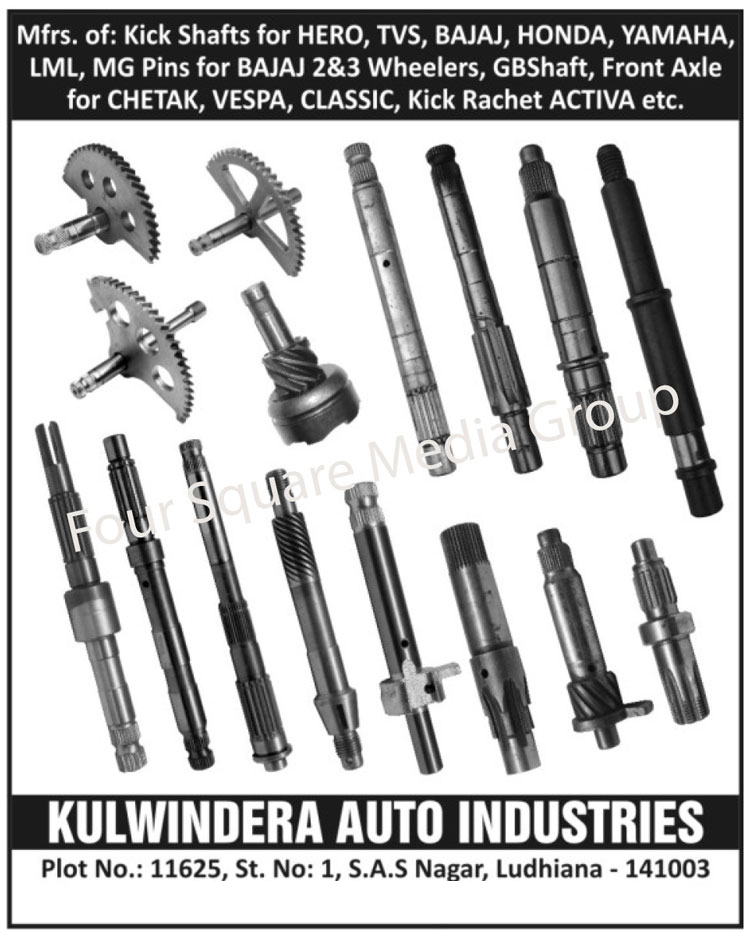 Automotive Spare Parts | Automotive Kick Shafts | Two Wheeler Kick ...