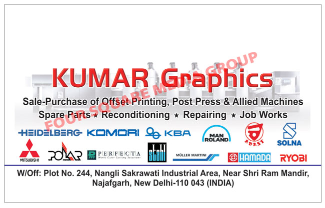 Offset Printing Machines, Post Presses, Allied Machine Spare Parts, Reconditioning Service