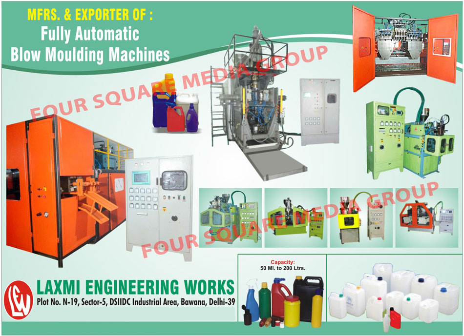 Automatic Blow Moulding Machines, Fully Automatic Blow Moulding Machines, Blow Moulding Machines
