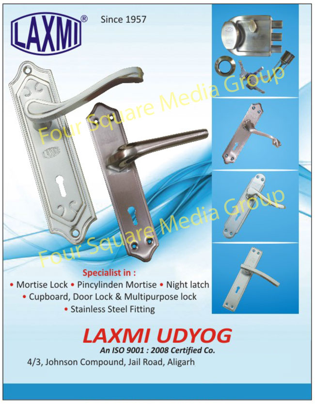 Mortise Locks, Pin Cylinder Mortise, Night Latch Locks, Cupboard Locks, Door Lock, Stainless Steel Fittings, Multipurpose Locks,Locks, Night Latch, Cupboard