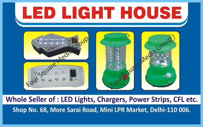 Led Lights, Led Chargers, Power Strips, Cfl Lights, Chargers