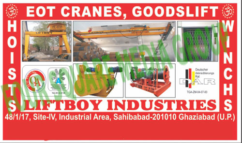 Pallet Truck, Gantry Crane, DG Trolly, Hook, Crab Winch, Pulling Lifting Machines, Polyester Sling, EOT Cranes, Goodslifts, Double Girder Crane Accessories, Spreader Beam, Lifting Magnet, Lifting Clamp, Gear Boxes, Wire Rope Slings, Hoist, Power Winch, Winches, Hoists,Adjustable Gantry Cranes, Handling Cranes, Electric Hoists, Slings, Hook Block, Pulling Machine, Lifting Machine, Flexible Coupling, Plate Clamps, Tripod, Brakes, Cable Carrier, Cable Trolley, Limit Switches