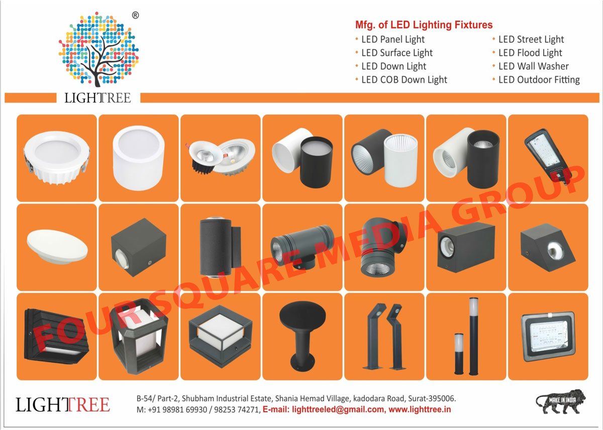 Led Lighting Fixtures, Led Lights, Led Panel Lights, Led Surface Lights, Led Down Lights, Led COB Down Lights, Led Street Lights, Led Flood Lights, Led Wall Washers, Led Outdoor Fittings