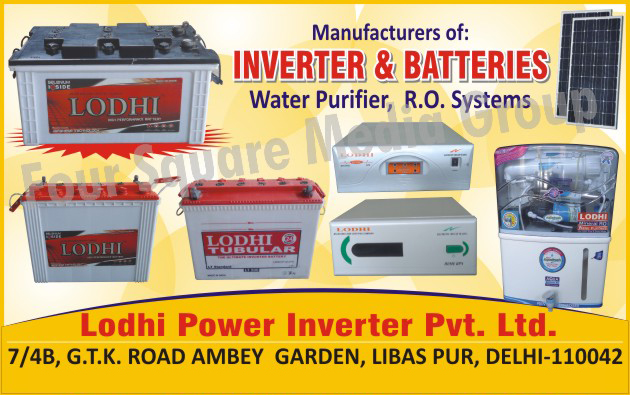 Water Purifier, Reverse Osmosis Systems, Inverters, Batteries,