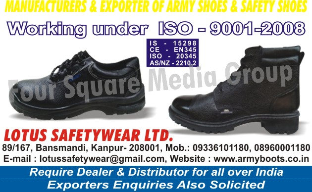 Safety Products, Safety Shoes, Army Shoes