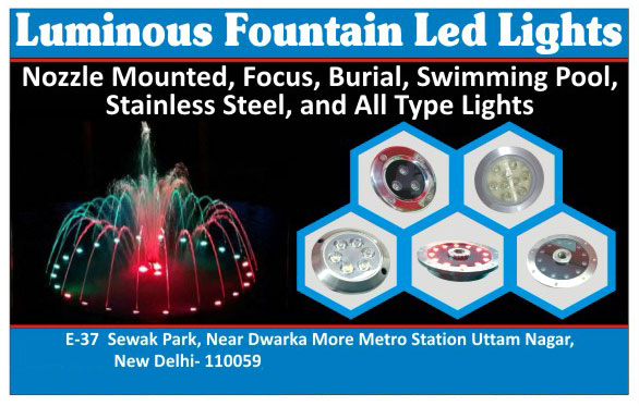 Nozzle Mounted Led Lights, Focus Led Lights, Burial Led Lights, Swimming Pool Led Lights, Stainless Steel Led Lights, Led Lights
