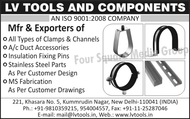 Clamps, Channels, AC Duct Accessories, Insulation Fixing Pins, Stainless Steel Parts, MS Fabrication, SS Parts