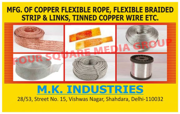 Copper Flexible Ropes, Flexible Braided Strip, Flexible Braided Links, Tinned Copper Wires